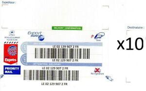 lot de 10 Étiquettes de Stickers Export Suivi International