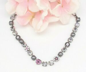 MARIANA PINK & GRAY CRYSTAL/PEARL NECKLACE - never worn
