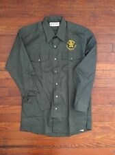 Large Police Department Uniform Green Long Sleeve Shirt
