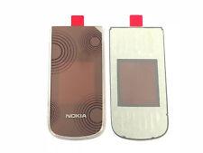 100% originale per Nokia 3710 a-COVER BACK vetro HOUSING GUSCIO SUPERIORE COVER MARRONE