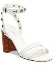 0f71d6c81f4 Marc Fisher Women s Lantern Studded City Sandals Size 6 White Leather Retail