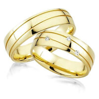 2 Trauringe Eheringe Verlobungsringe Silber 925 + DIAMANEN + Gravur + Etui A2
