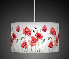 30cm Rosso waterrcolour Poppy Fiore Fatto A Mano Paralume Lampadario Pendente 606