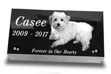 "Pet Headstone  Laser Engraved on the Grave Marker Granite 20""х10""х3"" inch"