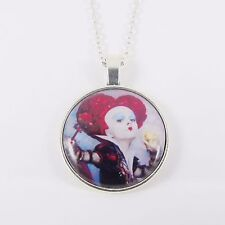 QUEEN OF HEARTS NECKLACE disney alice through the looking glass tim burton cards