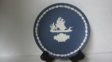 Wedgwood Jasperware Embossed White on Portland Dark Blue 1975 Mother's Day Plate