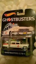 New Hot Wheels Retro Entertainment Ghostbusters Ecto 1 Hearse Car Diecast Mint