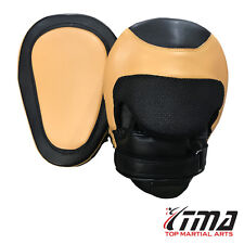 TMA Focus Pads,Hook & Jab Mitts,Boxing Punch Gloves Bag Kick Thai Curved MMA US