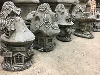 (NEW) Fairy Houses Cottages,Garden stone ornaments,Magic mythical Fairys home Lo