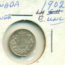 Canada 5 cents Silver 1902 LH BUnc