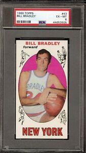 1969 Topps SET BREAK #43 Bill Bradley PSA EX-MT 6 New York Knicks