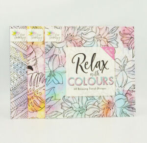 Full set of 3 Colour Therapy Adult Colouring Books - Animals, Floral & Patterns