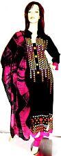 Shalwar kameez black eid pakistani indian designer churidar hijab suit uk 10