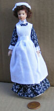 1:12 Scale Maid In A Black & White Dress Dolls House Miniature People 103