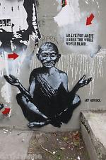 Banksy Graffiti Gandhi Eye For Eye 16x20 double thick matte paper print