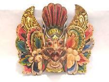 Wooden Garuda Mask Hand Carved Wood Bali Wall Decor Art #973