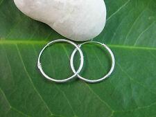 925 Sterling Silver big 18mm hinge sleepers hoops unisex earrings - non allergic