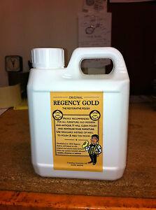ORIGINAL REGENCY GOLD WOOD /FURNITURE POLISH  REMOVES HEAT MARKS FROM FACTORY