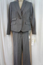 """Nine West Petite Suit Pant Suit Sz 6P Grey Multi Color """"Urban Chic"""" Business"""