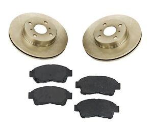 For Toyota Corolla 93-97 1.8L Front Brake Kit w/ Rotors & Semi Metallic Pads
