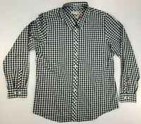 Orvis Mens Dress Shirt L Blue White Plaid Long Sleeve Button Up New Without Tags