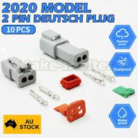 10x Deutsch DT 2 Way Pin Male&Female Kit Electrical Connector Plug Weatherproof