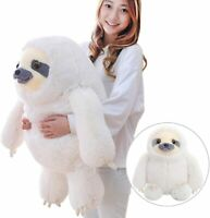 Winsterch Giant Sloth Stuffed Animal Toy Kids Plush Sloth 27.5 inches (White)