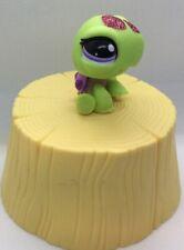 Littlest Pet Shop 2234 Green Sparkle Glitter Turtle w/ Purple Shell & Eyes