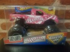 2012 Hot Wheels Monster Jam Madusa Pink 1:24 Monster Truck  Very Rare !!!