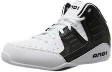 AND 1 Men's Rocket 4.0 Basketball Shoes Size 8 [White/Black Glacier]