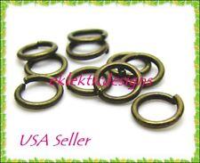 14mm 25pcs Antique Brass Bronze Jump Rings Jewelry Findings Open Split Earrings
