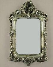 Wandspiegel Deko-Spiegel Barockspiegel Rahmen Antik Silber Barockrahmen