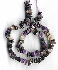SOUTH AFRICAN SUGILITE, WHITE PECTOLITE, MANGANESE NUGGET/CHIP BEADS - 617B
