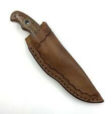 Solid Rock Knives Scott Davidson Knife Basketweave Handles Leather Sheath