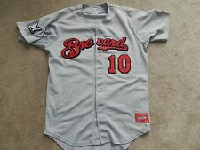 2013 Brevard County Manatees Game Used Road Jersey #10 Lance Roenicke Brewers