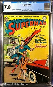Superman # 85 CGC 7.0 F/VF CR/OW ONLY 6 Copies Nicer ! Strictly Graded ! WOW !