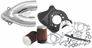 S&S Cycle Single Bore Tuned Performance Induction Kit - Chrome 106-2448