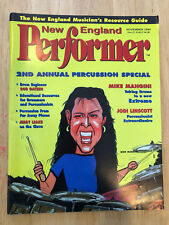 New England Performer Drummer Magazine Mike Mangini Extreme Dream Theater Nov 94