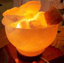 Lampe de sel Brasero cm15 KG 2/3 , Sel l'Himalaya LES GROTTES TIBET Sel rose