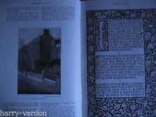 William Morris Kelmscott Press Printer Textile Designer Victorian Article 1895