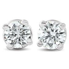 G/VS .25 CT Diamante Tachas Rosca Trasera 14k Oro Blanco Laboratorio crecido Eco Friendly