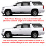 2X Multiple Color Graphics Car Racing Vinyl Decal Sticker for Chevrolet Tahoe