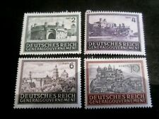 Germany - General Government Sc. # 100-103 Landmarks 1943-44 - MNH