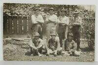 Rppc Group of Laborers Carpenters Workers c1907 Real Photo Postcard O10