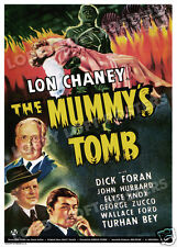 THE MUMMY'S TOMB LOBBY CARD POSTER OS 1942 LON CHANEY JR.  DICK FORAN ELYSE KNOX