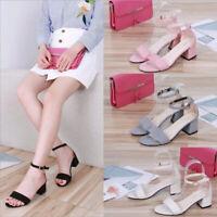 Women's High Heels Sandals Ladies Open Toe Shoes J tx