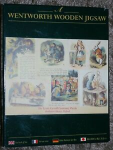 VERY RARE WENTWORTH WOODEN 250 PIECES JIGSAW - LEWIS CARROLL - CENTENARY PUZZLE
