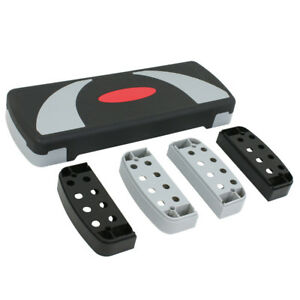"""30"""" Aerobic Stepper Adjust 4""""-6""""-8"""" Indoor Cardio Step Fitness Exercise w/Risers"""