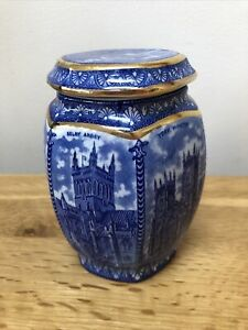 Ringtons Tea Caddy by Wade 1989 Based on Maling Cathedral Jar 1920 Period.