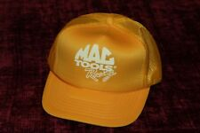 Vintage Mac Tools Racing Trucker Snapback Cap Hat Yellow